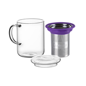 All in One Mug Purple. Glass Mugs Tea Shop®
