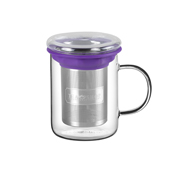 All in One Mug Purple. Glass Mugs Tea Shop® - Item1