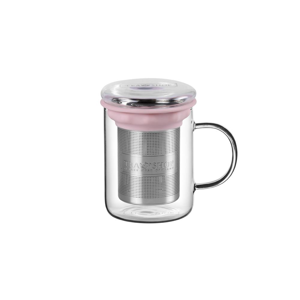 All in One Mug Light Pink. Tazas de cristal Tea Shop - Ítem1
