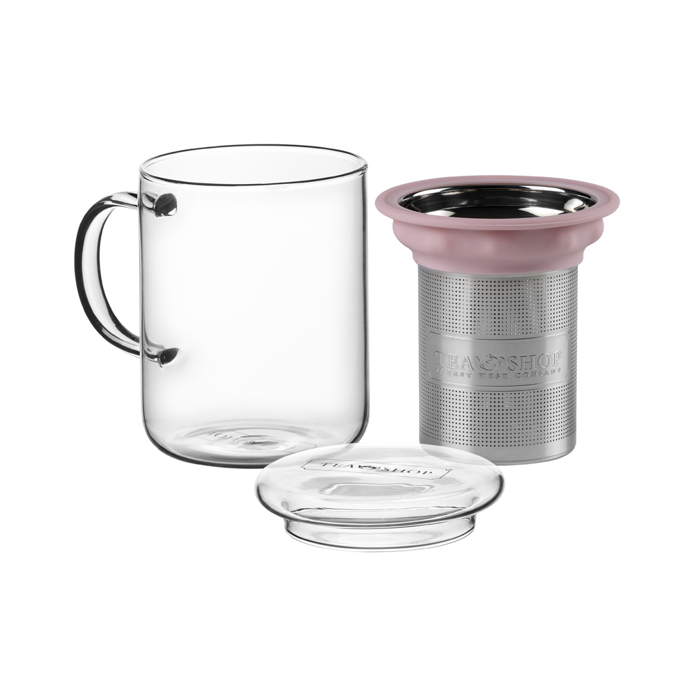 All in One Mug Light Pink. Tazas de cristal Tea Shop