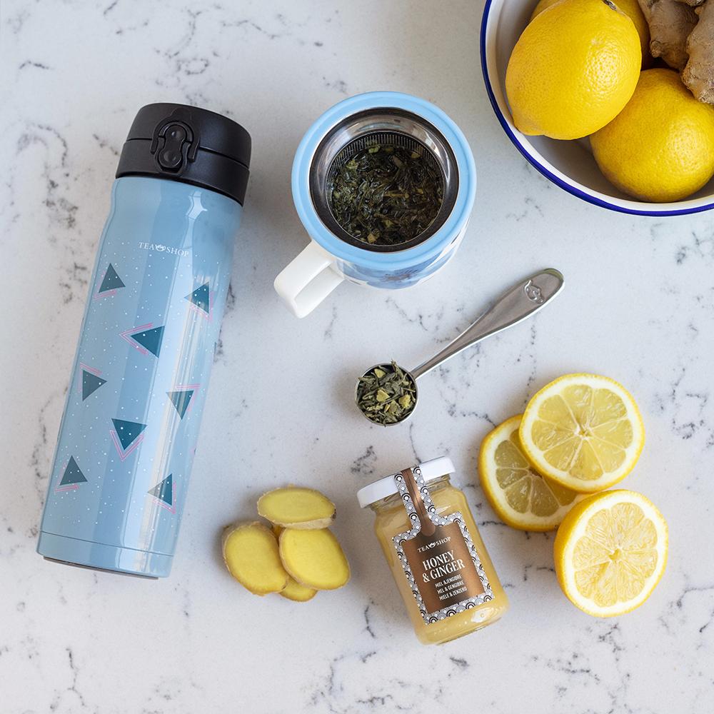 Mug Harmony Flower Azul. Tazze in porcellana Tea Shop® - Item6