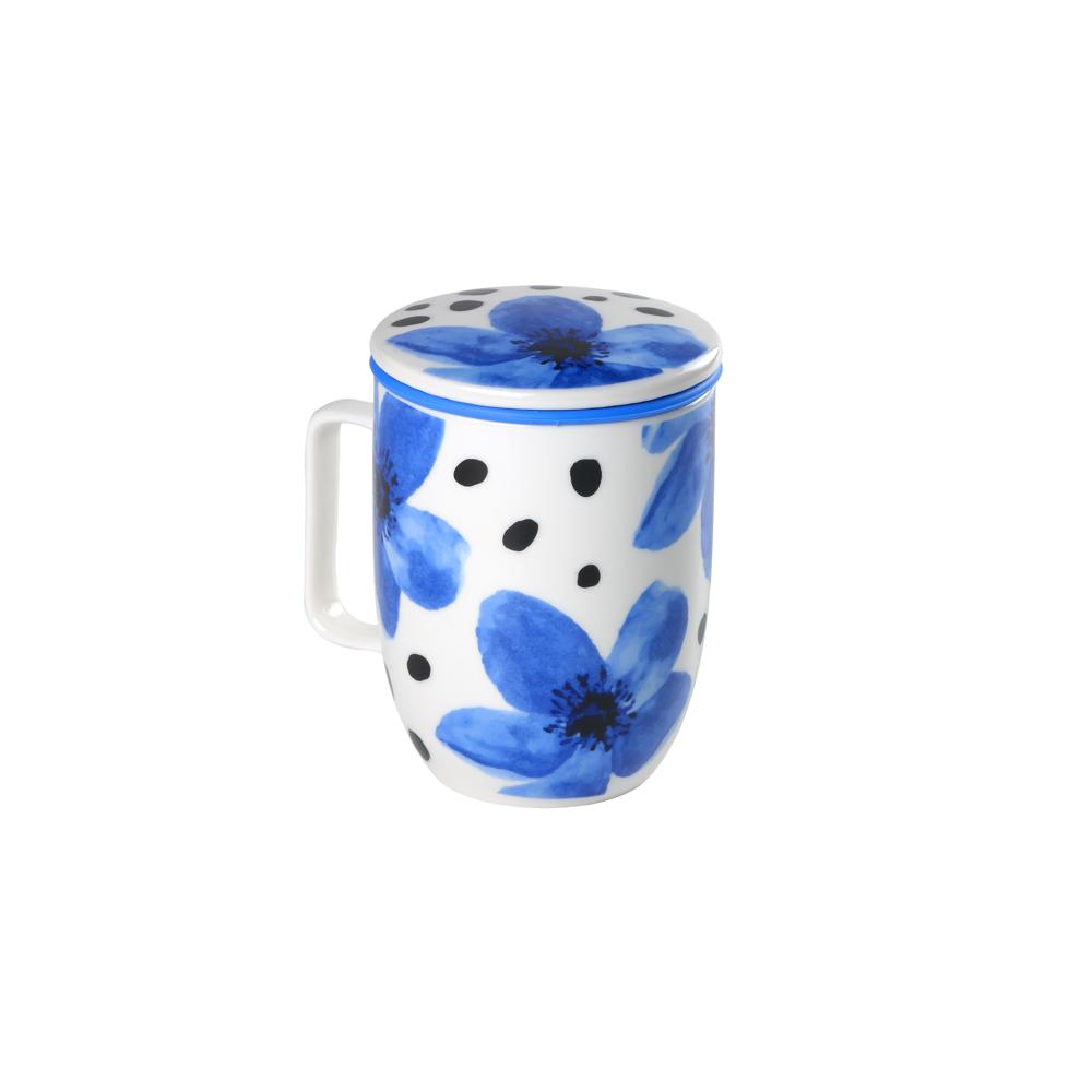 Mug Harmony Flower Azul. Tazze in porcellana Tea Shop®