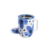 Mug Harmony Flower Azul. Tazze in porcellana Tea Shop® - Item1