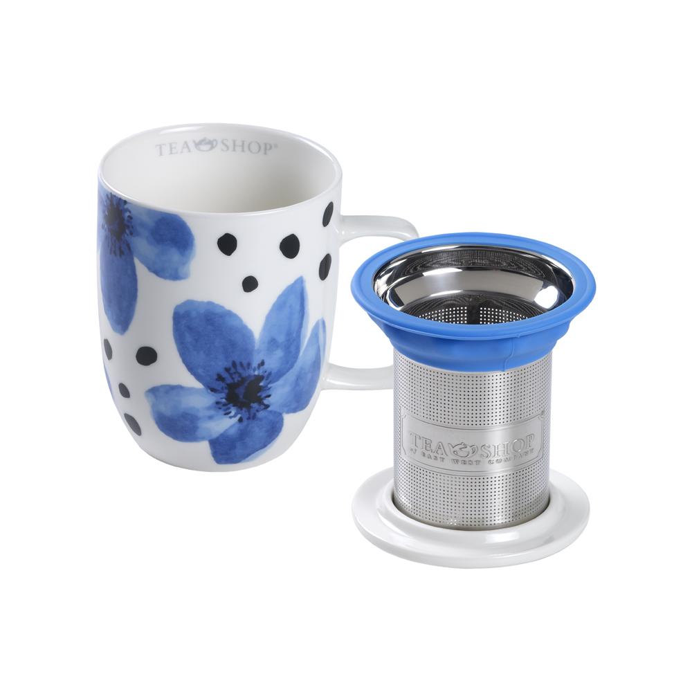 Mug Harmony Flower Azul. Tazze in porcellana Tea Shop® - Item2
