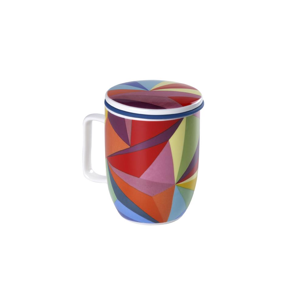 Mug Harmony Rainbow Cubist. Tazas de porcelna