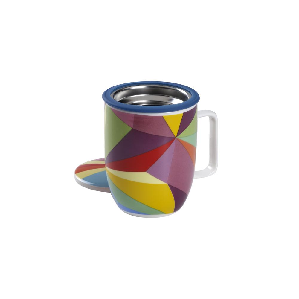 Mug Harmony Rainbow Cubist. Tazas de porcelna - Ítem1
