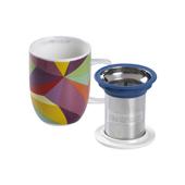 Mug Harmony Rainbow Cubist. Tazas de porcelna - Ítem2