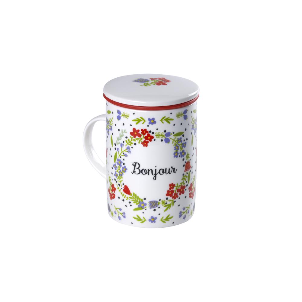 Mug Classic Bonjour. Tazas de porcelana Tea Shop®