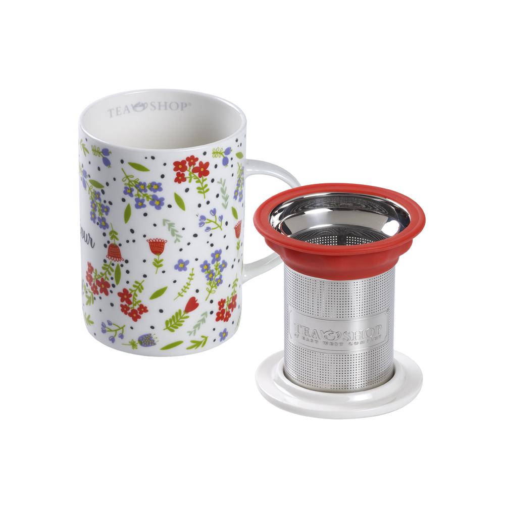 Mug Classic Bonjour. Tazas de porcelana Tea Shop® - Ítem2