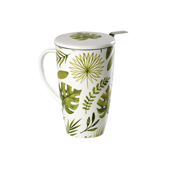 Mug Emmeline Green Jungle. Porcelain Mugs Tea Shop®
