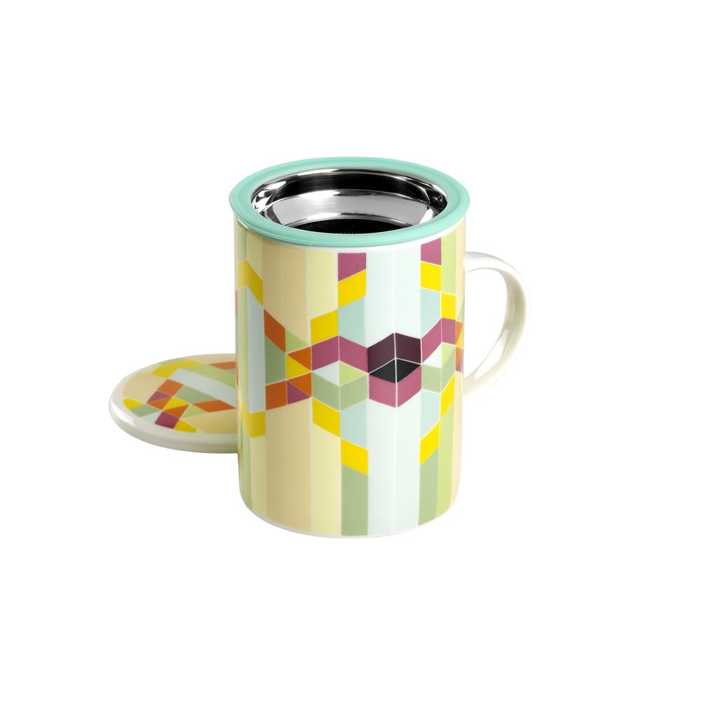 Mug Classic Geometric Rainbow. Tazas de porcelana Tea Shop® - Ítem1