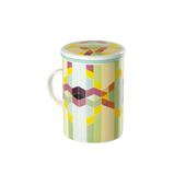Mug Classic Geometric Rainbow. Tazas de porcelana Tea Shop®