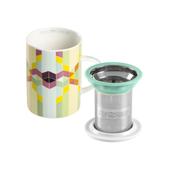 Mug Classic Geometric Rainbow. Tazas de porcelana Tea Shop® - Ítem2