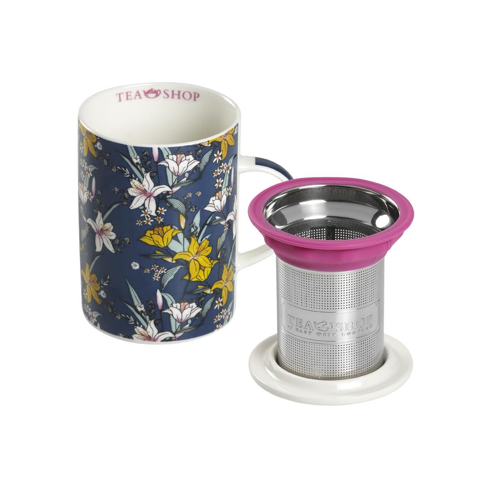 Mug Classic Japan Flower Blue. Tazas de porcelana Tea Shop® - Ítem2