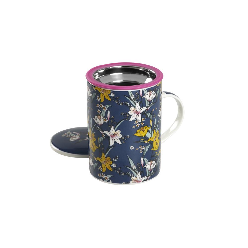 Mug Classic Japan Flower Blue. Tazas de porcelana Tea Shop® - Ítem1