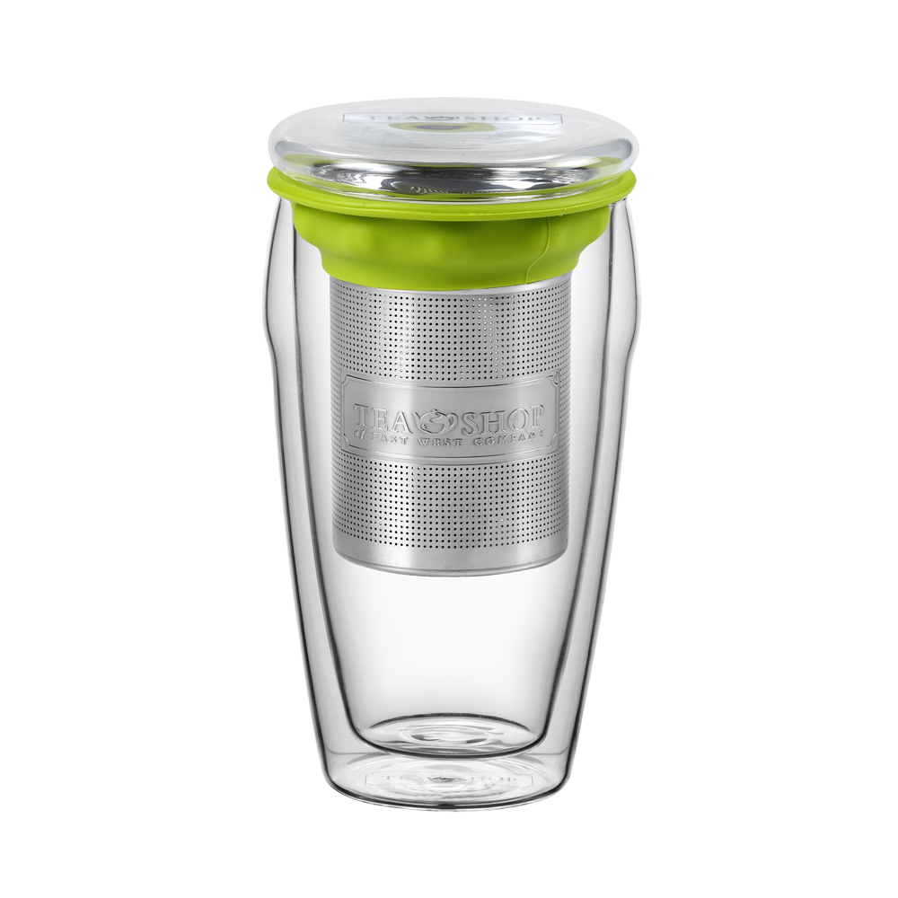 All in One Jumbo Green.,Tazas de cristalTea Shop®