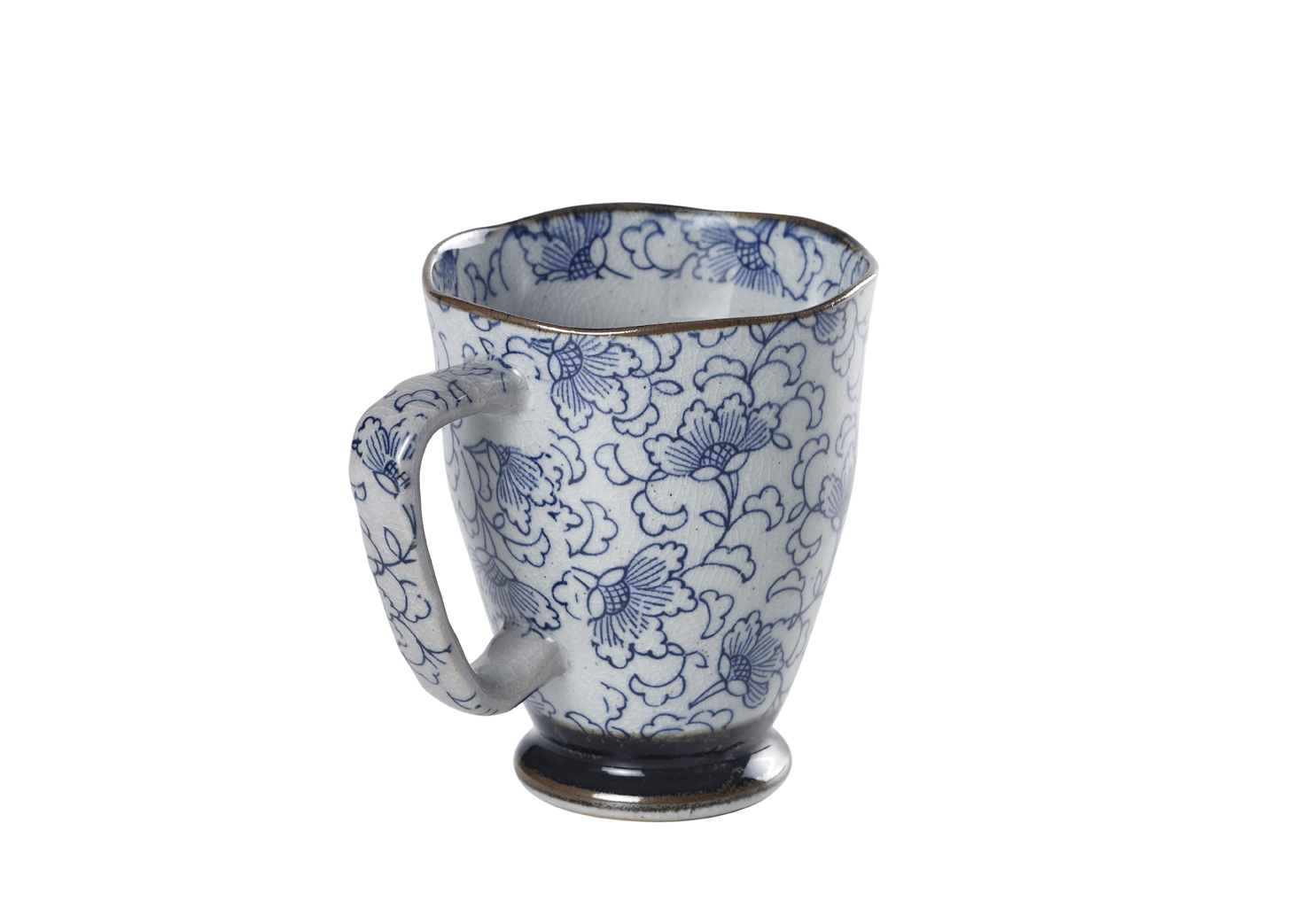 Mug Uki Kiku Blue. Porcelain Mugs. Tea Shop®