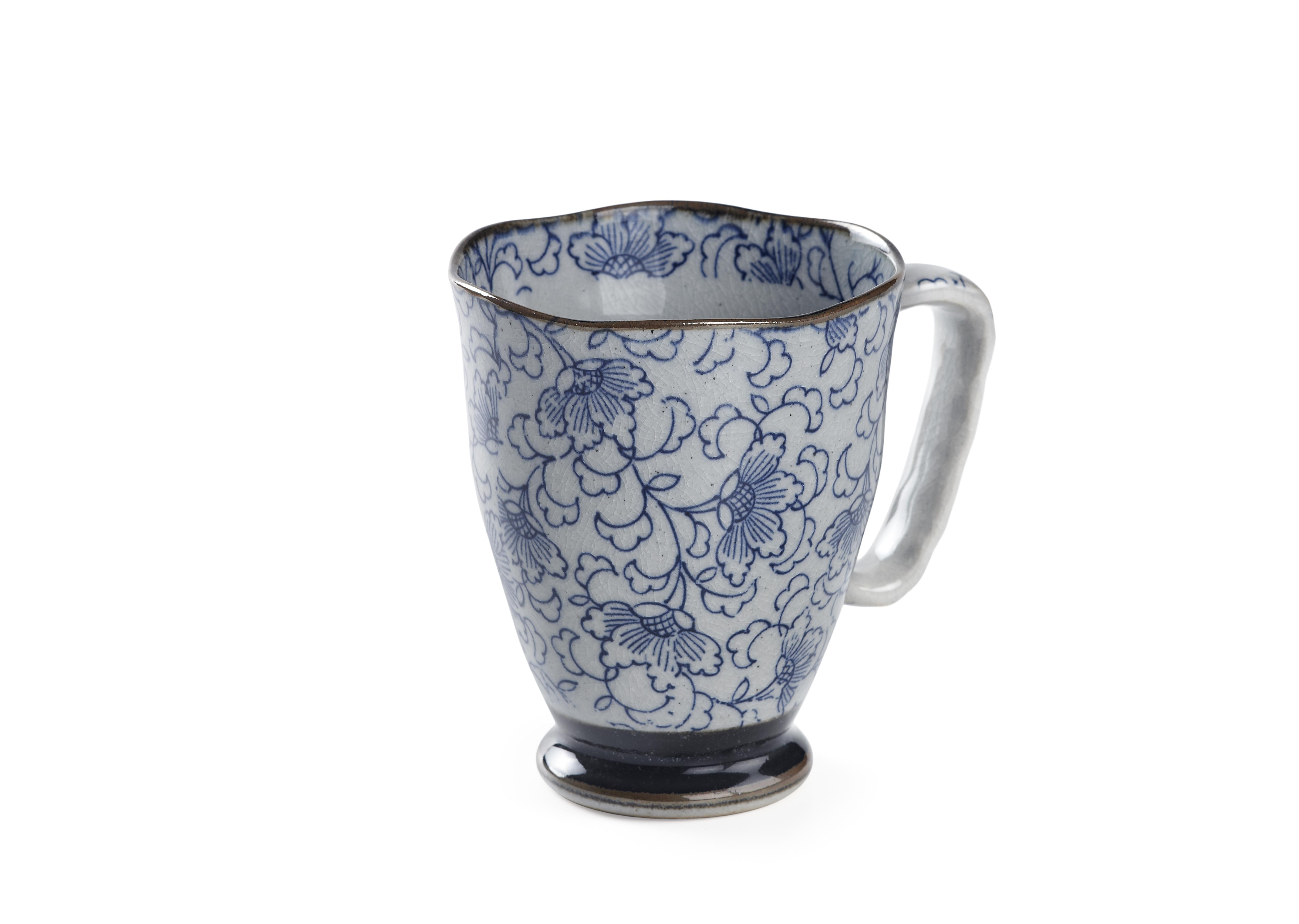 Mug Uki Kiku Blu. Tazze in porcellana. Tea Shop®