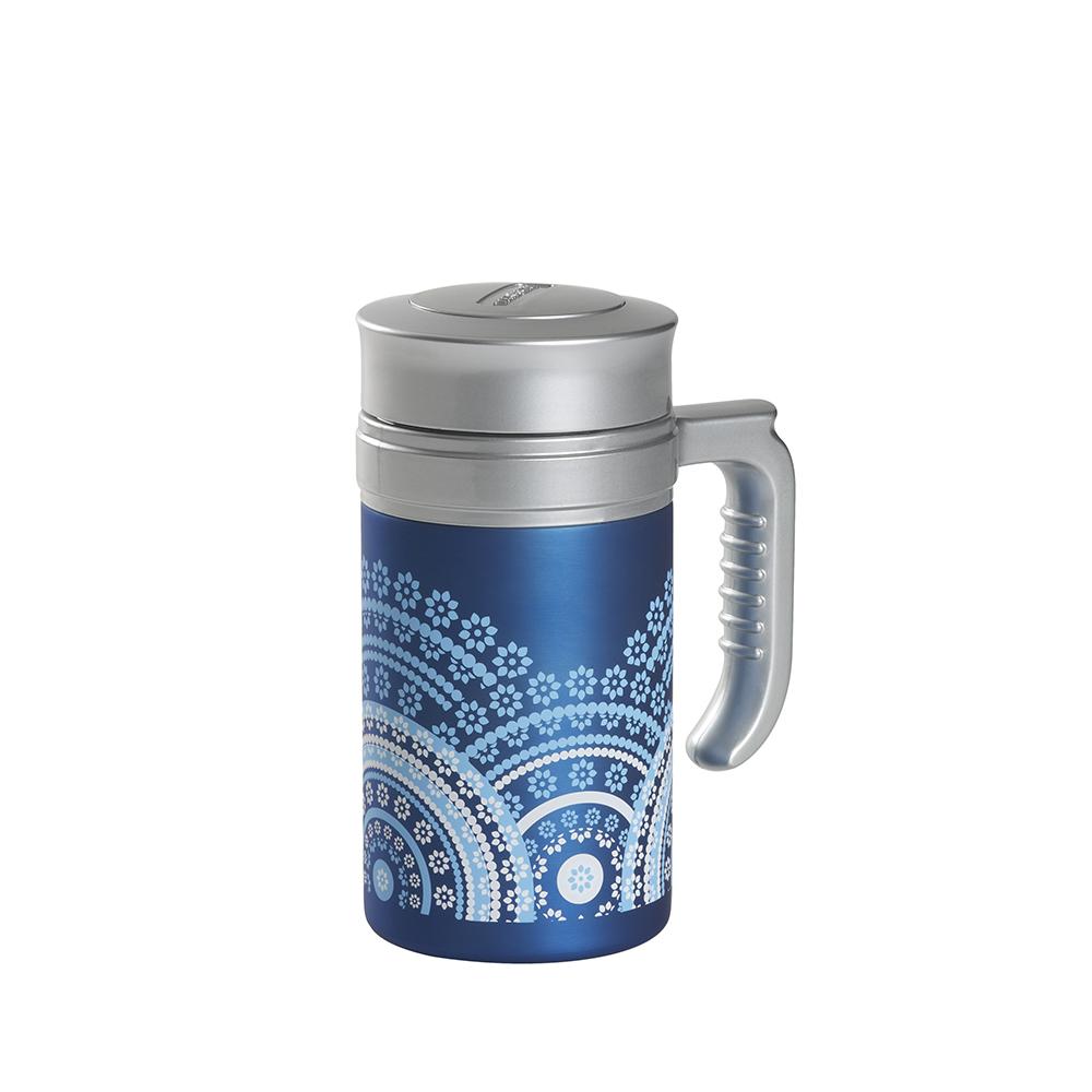 Travel Tea Mandala Light Blue . . Thermos. Thermos Without FilterTea Shop®