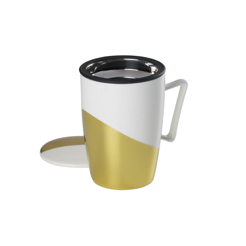 Mug Super Jumbo Golden .,Tazas de porcelanaTea Shop® - Ítem2