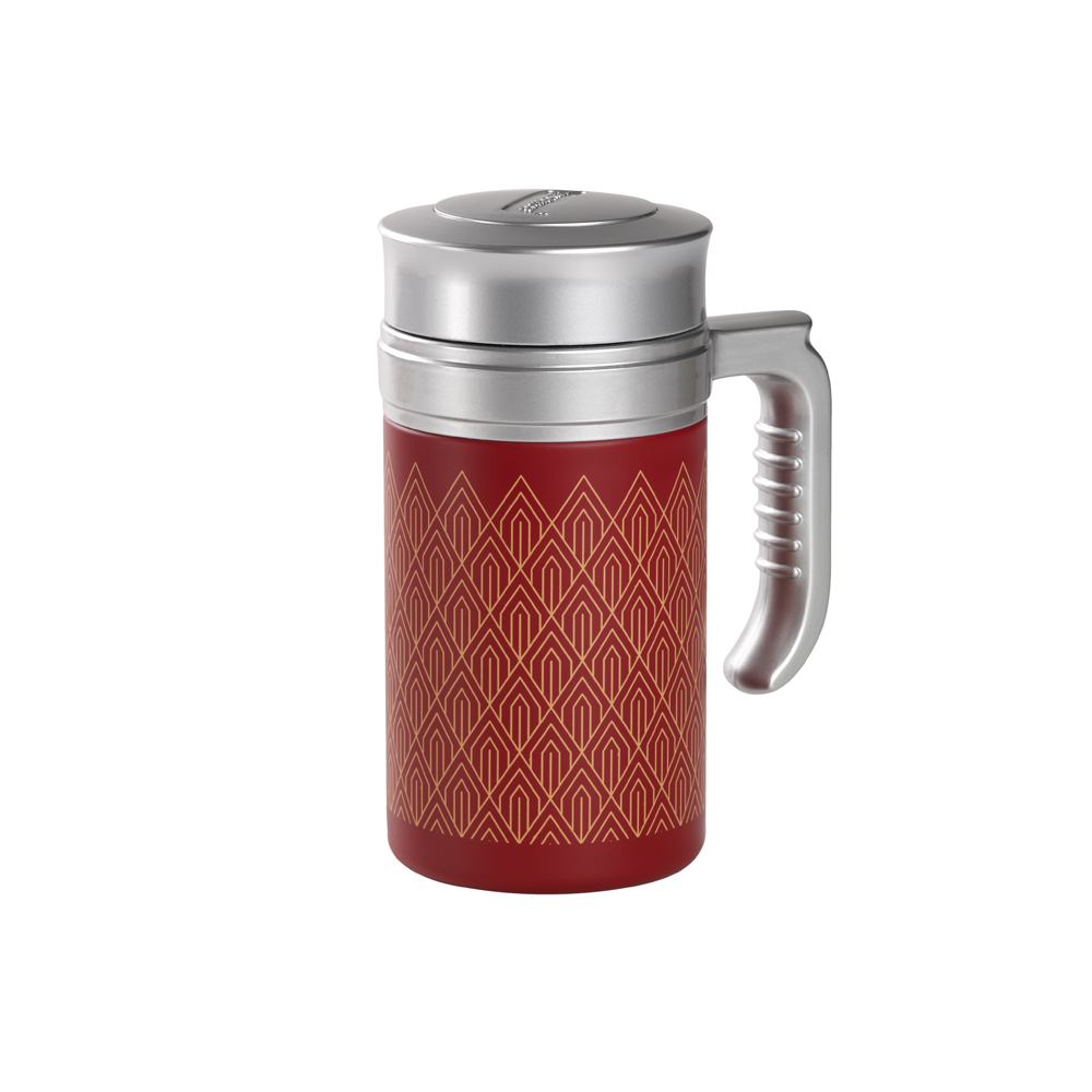 Travel Tea Mug Brooklyn Red. Termo,Termo con filtro