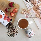 Matcha Shake Strawberry & Vanilla_ Tè Matcha. Tea Collections. Tè Rooibos e infusi, Antiossitante, Diabetici, Celiaci, Intolleranti alla frutta secca, Intolleranti al lattosio, Intolleranti alla soia e suoi derivati, Vegetariani, Vegani, Bambini, Donne in gravidanza, Erbaceo, Erbaceo,Tea Shop® - Item5