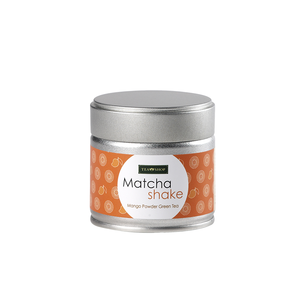 Mango Matcha Shake_ Match Tea. Tea Collections. Teas, rooibos teas and herbal teas, Antioxidant, Diabetics, People with Coeliac Disease, People Intolerant to Nuts, People Intolerant to Lactose, People Intolerant to Soya and Soya Products, Vegetarians, Vegans, Children, Pregnant Women, Herby, Herby,Tea Shop® - Item1