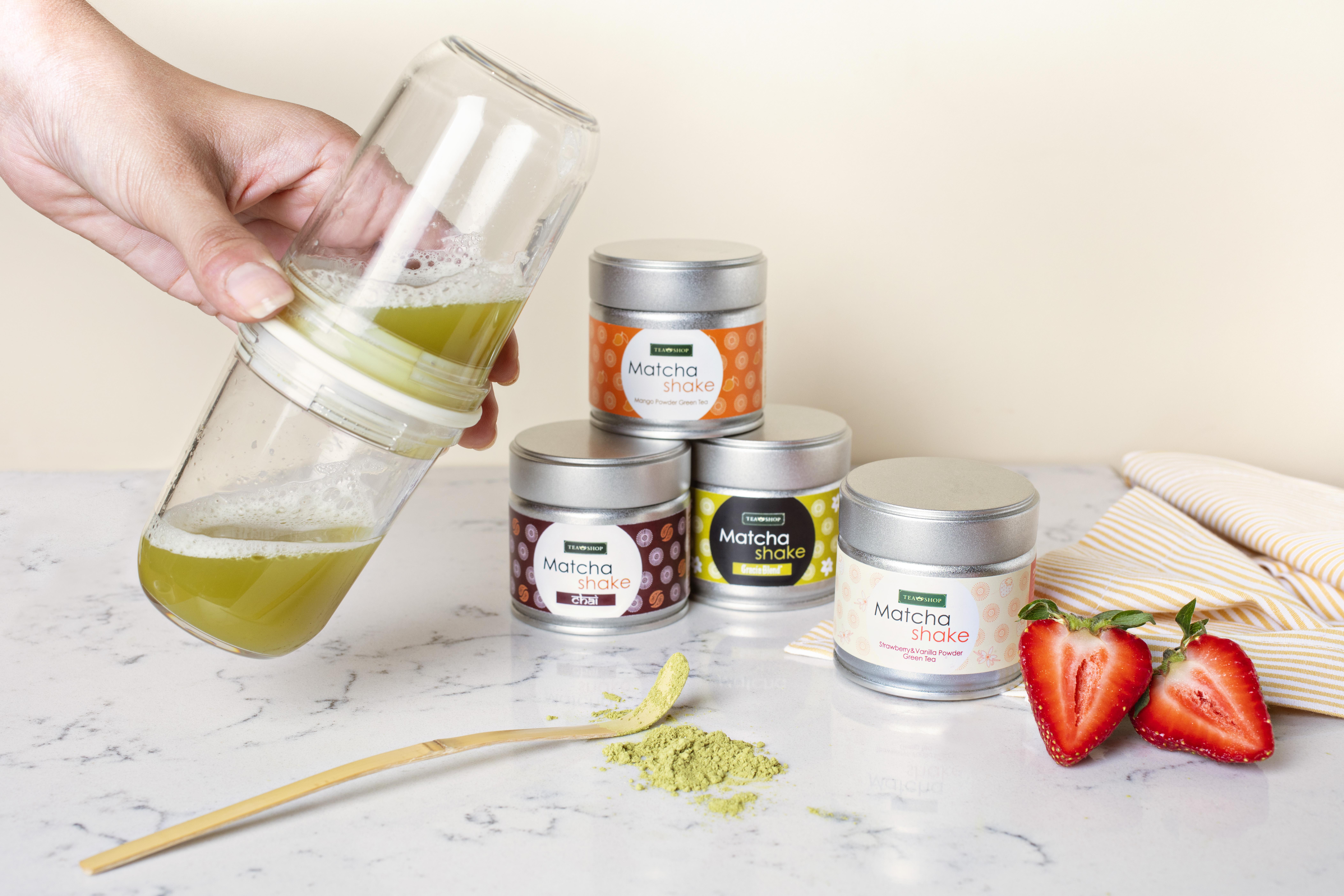 Matcha Shake Strawberry & Vanilla_ Té Matcha. Tea Collections. Tés, rooibos e infusiones, Antioxidante, Diabéticos, Celíacos, Alérgicos a los frutos secos, Alérgicos a la lactosa, Alérgicos a la soja y derivados, Vegetarianos, Veganos, Niños, Embarazadas, Herbal, Frutal, Herbal, FrutalTea Shop® - Ítem4