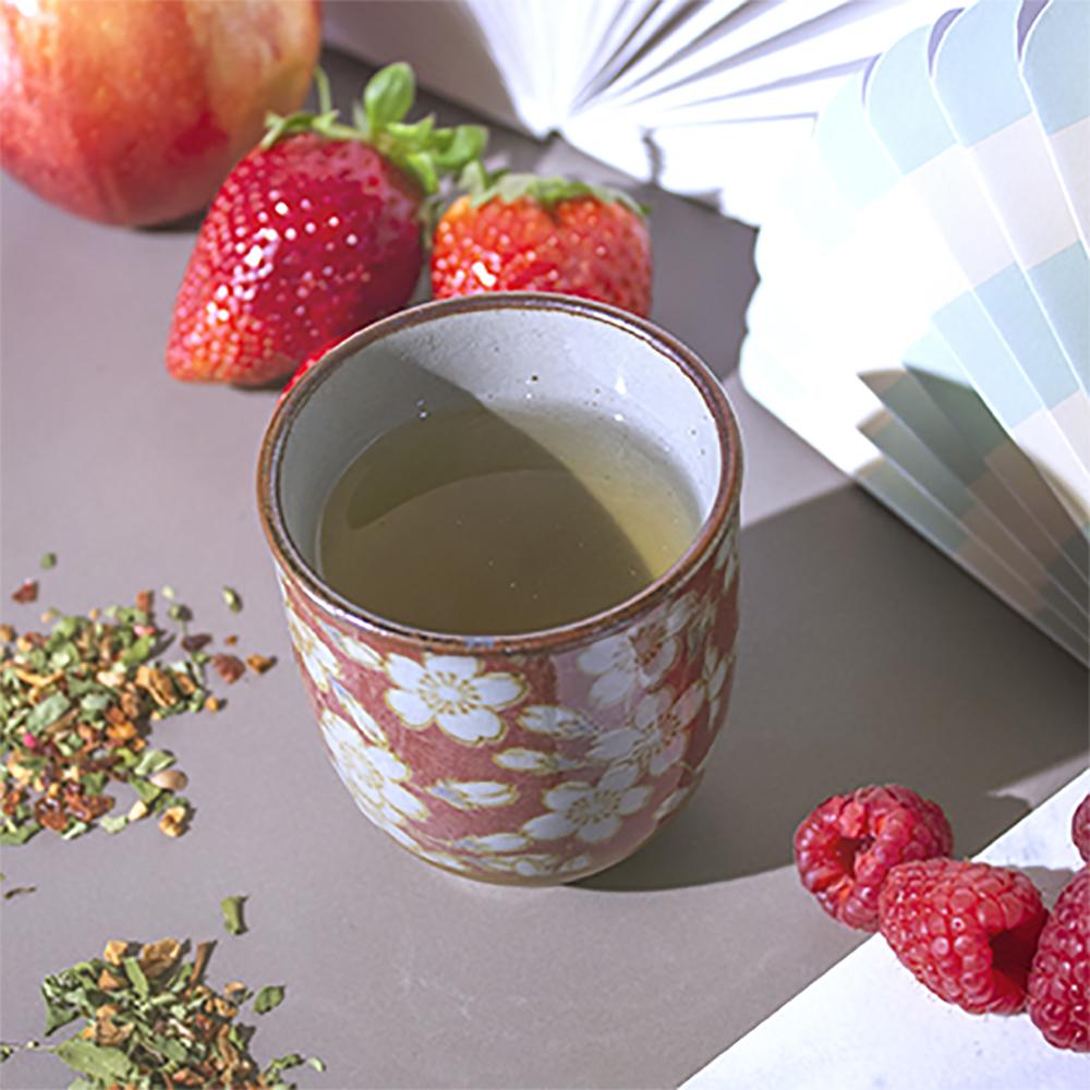 Set Vasos Florales. Porcelain Japanese Mugs Tea Shop® - Item3