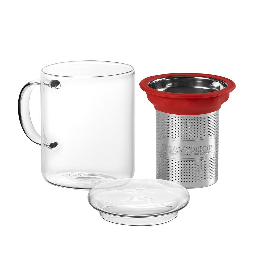 All In One Mug Red.. . Tasses de vidreTea Shop®