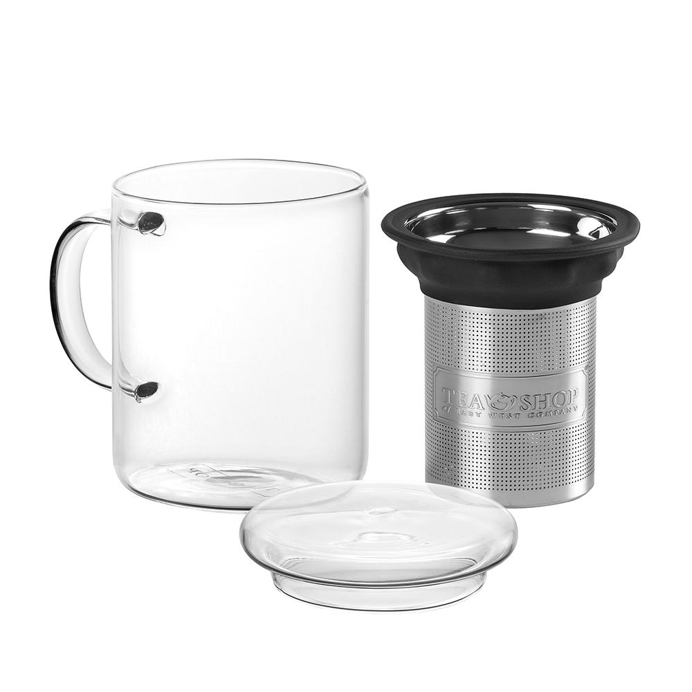 All In One Mug Black.. . Tasses de vidreTea Shop®
