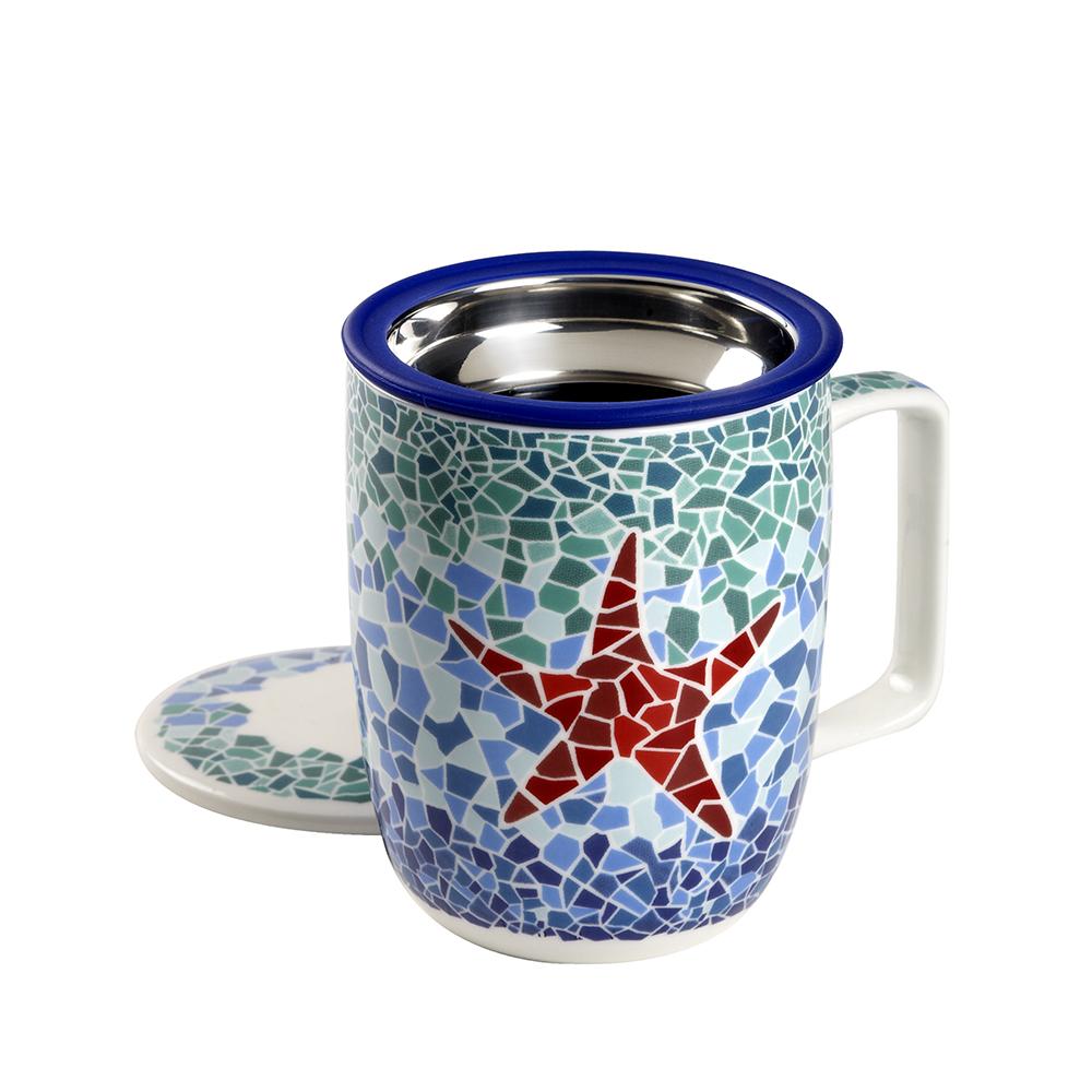 Mug Harmony Estrella. Canecas em porcelanaTea Shop® - Item1