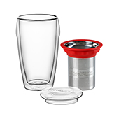 All in One Jumbo Red. Glass MugsTea Shop®