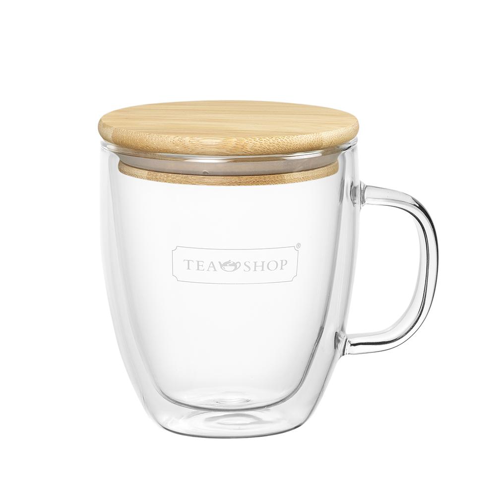 Wood Lid Mug. Tazas de cristalTea Shop®