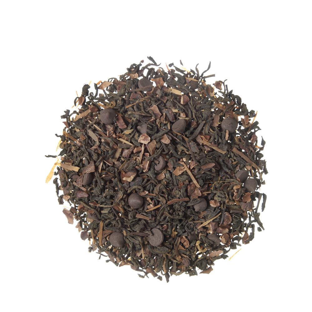 Pu Erh ChocoNoir_ Tè rosso (Pu Erh). Tè sfusi. Tè Rooibos e infusi, Detox, Celiaci, Intolleranti alla frutta secca, Intolleranti al lattosio, Intolleranti alla soia e suoi derivati, Vegetariani, Vegani, Donne in gravidanza, Dolce, Dolce,Tea Shop®