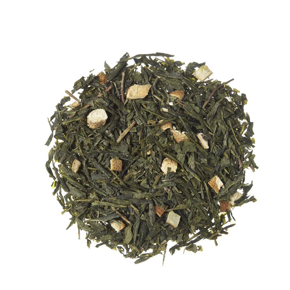 GingTea_ Green tea. Loose teas. Teas, rooibos teas and herbal teas, Antioxidant, Diabetics, People with Coeliac Disease, People Intolerant to Nuts, People Intolerant to Lactose, People Intolerant to Soya and Soya Products, Vegetarians, Children, Pregnant Women, Citrus, Citrus,Tea Shop®