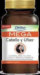 Dietisa Mega Cabello y Uñas. 60 cápsulas
