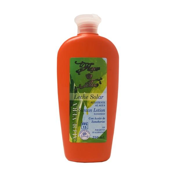 Fleur Aloe Leche Solar con Aceite de Zanahoria 250ml
