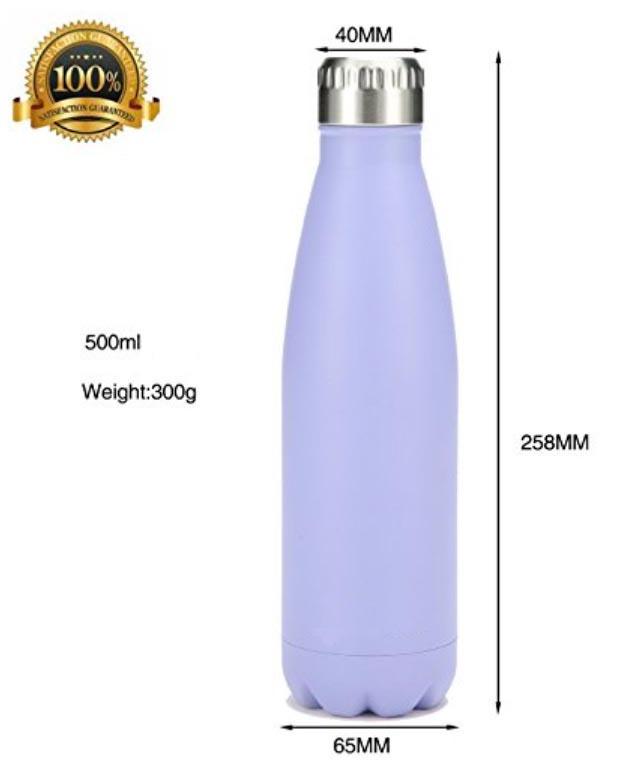 Botella Termo Acero Inox Blanca 500 ml