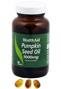 Health Aid Aceite de semilla de calabaza 1000 mg, 60 caps