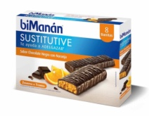 biManán BARRITA CHOCOLATE NEGRO Y NARANJA 8 Unidades