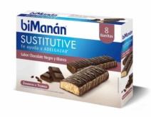 biManán BARRITA CHOCOLATE NEGRO Y BLANCO 8 Unidades