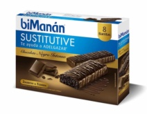 biManán BARRITA Chocolate Intenso 8 unidades