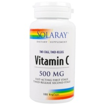 Solaray Vitamin C-500 Masticable Cereza