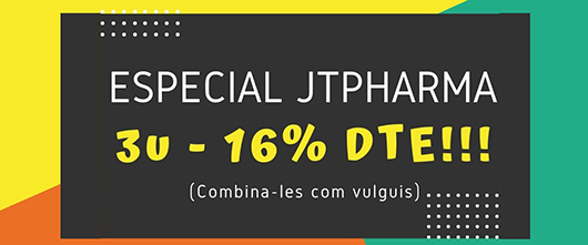 Jtpharma - Promocions d'Albet per tots els productos de Jtpharma: hypoclorine, glandulex, artro pharma, uro pharma, pancrea pharma, ...