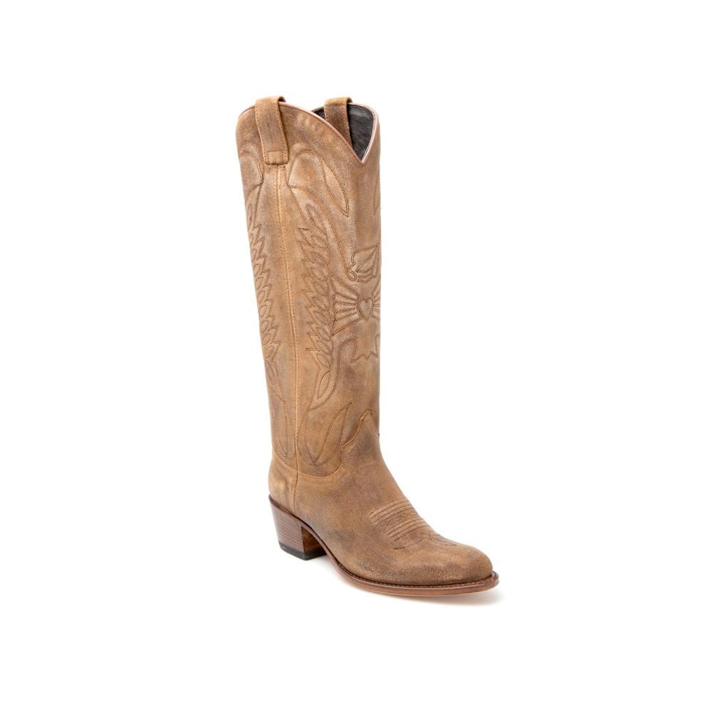 Botas western Sendra mujer marron caña alta entrega gratis - __[GALLERYITEM]__