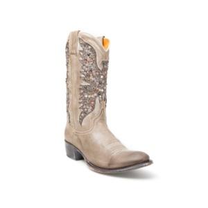 botas camperas Sendra western cowboy beige gris blancas de mujer caña alta aguila