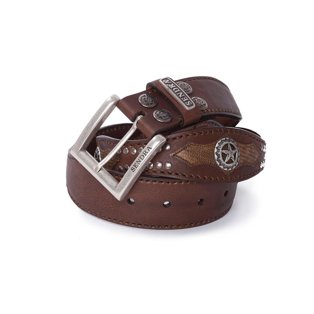 cinturon-sendra-western-hombre-ondulado-piel-natural-marron-piton-serpiente-1220-noel-western-boots-58320 - __[GALLERYITEM]__