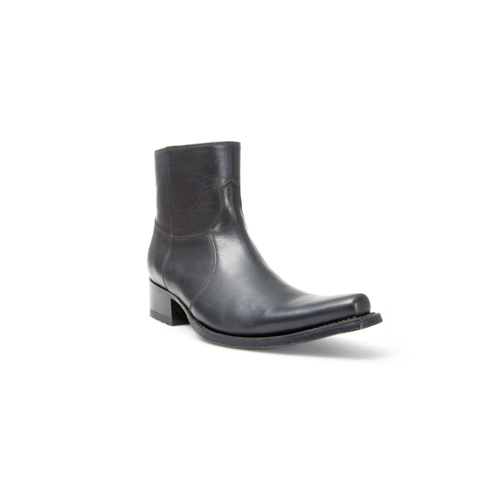 Compra en Noel Western Boots estos Botines Sendra Western para hombre de cuero negro modelo 5200 con envíos gratis a la península 10016 -