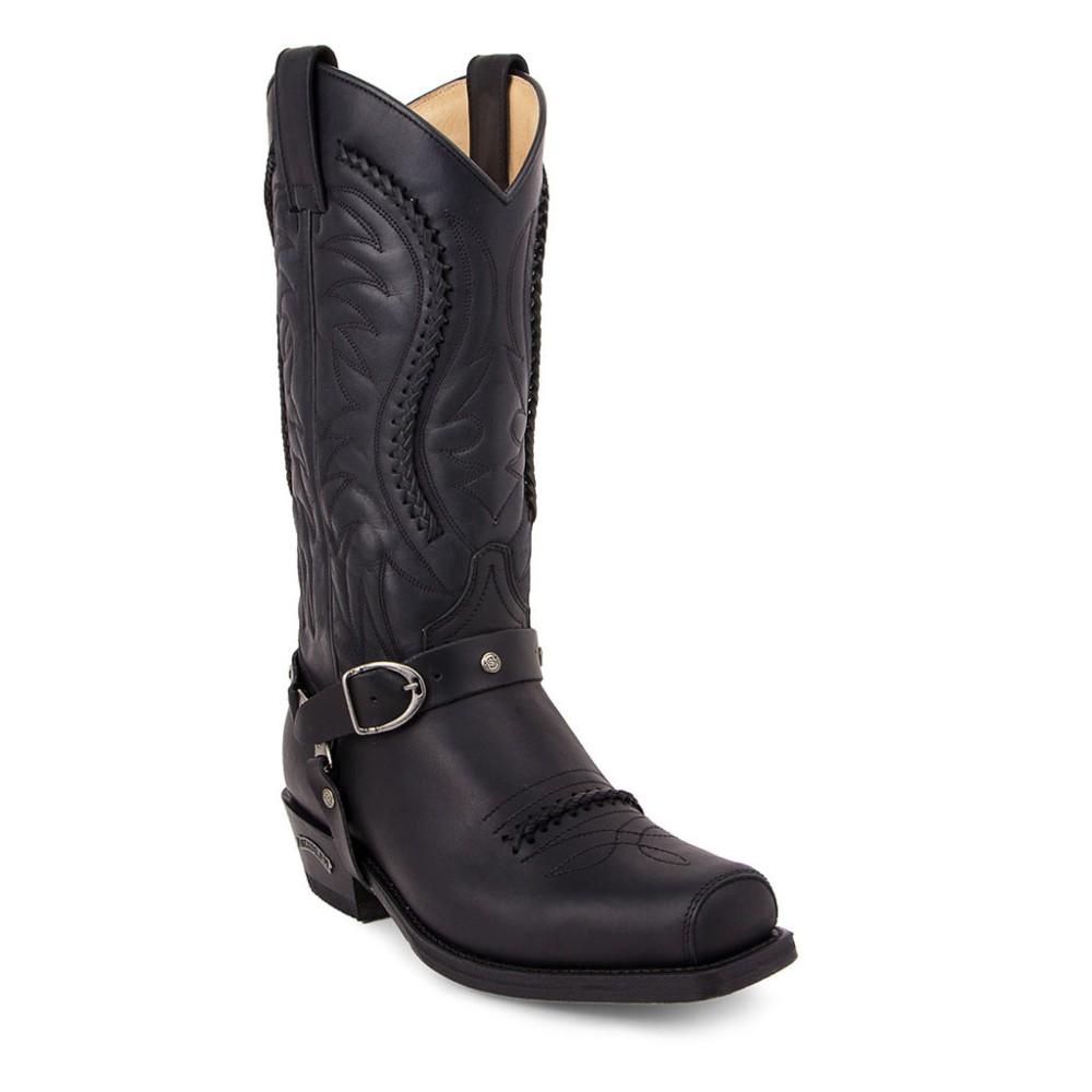 Compra en Noel Western Boots estas botas Sendra Biker para hombre en cuero negro modelo 3434 horma 58 Seta con envíos gratis a península clave 10053 -